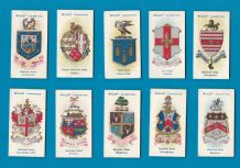 Collectable  cigarette cards set Borough Arms.1906,